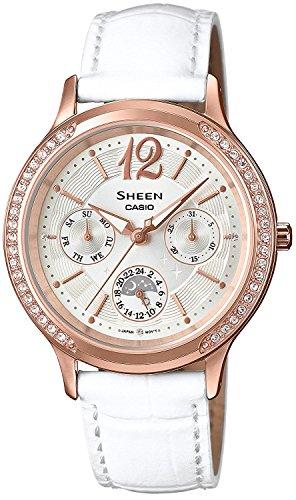 CASIO watch SHEEN Swarovski crystal bezel domestic 1 year manufacturer's warranty with SHE-3030GLJ-7AJF Ladies