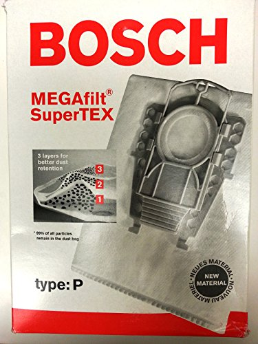 Bosch Type P Bags - Genuine replacement vacuum filter bag with 1 filter