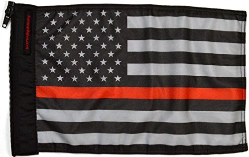 Forever Wave USA Subdued Thin Red Line Flag
