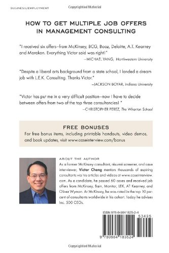 Case Interview Secrets: A Former McKinsey Interviewer Reveals How to Get  Multiple Job Offers in Consulting: Victor Cheng: 9780984183524: Amazon.com:  Books
