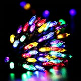 RECESKY Christmas String Lights with Timer - 50 LED 19ft Fairy Battery Operated Mini String Light for Outdoor Indoor Garden Patio Party Home Wreath Xmas Decor Christmas Tree Decoration - Multi Color