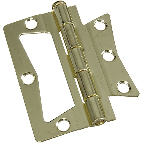 (National Hardware N244-780 V535 Surface-Mounted Hinges in Brass, 2 pack )