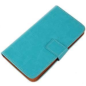 "Gukas Flip PU Billetera Design Para Bluboo xTouch x500 5"" Funda De Carcasa Cartera De Cuero Case Cover Piel (Azul)"