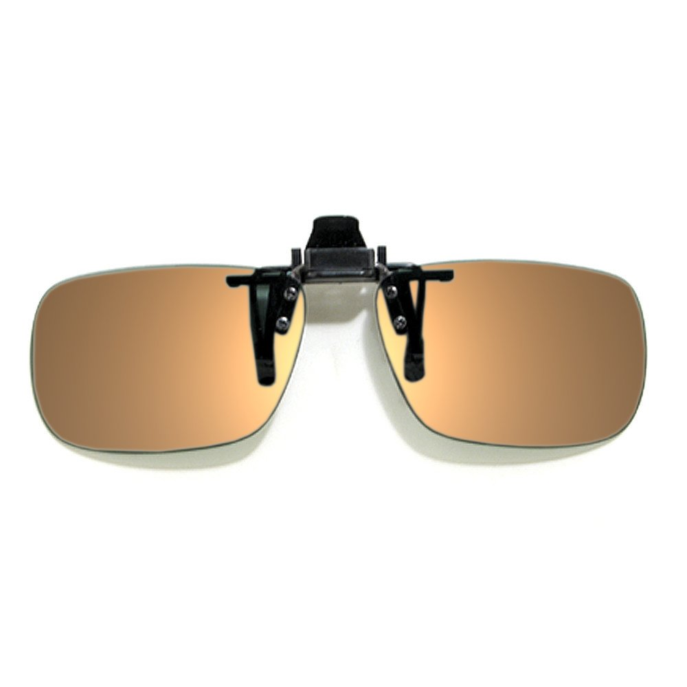Calabria Rectangle Polarized Flip-Ups 57MM CME50 with Grey or Brown Tint