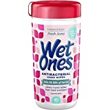 WET ONES Antibacterial Hand Wipes, Fresh Scent 40 ea (Pack of 5)