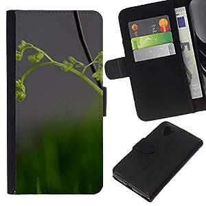 Stuss Case / Funda Carcasa PU de Cuero - Naturaleza Hermosa Forrest Verde 82 - LG Nexus 5 D820 D821