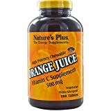 Nature's Plus, Orange Juice Vitamin C Supplement, 500 mg, 180 Tablets - 3PC