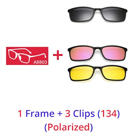 Yangjing-hl Gafas de Sol polarizadas Hombres Mujeres 5 en 1 ...