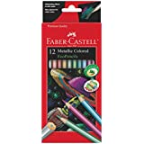 Faber Castell Metallic Colored Ecopencils - 12 Break Resistant Coloring Pencils