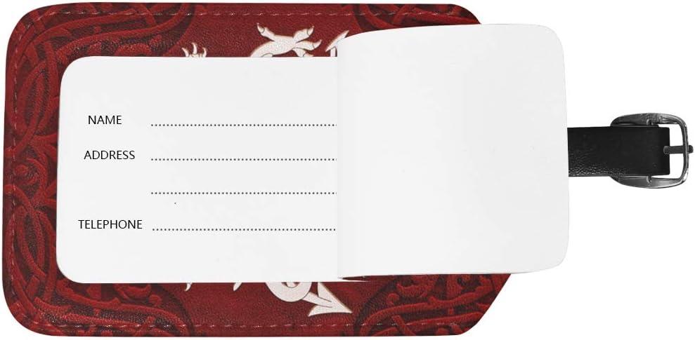 LINDATOP Vintage Ornamental Welsh Dragon Luggage Tags Bag Travel Labels for Baggage Suitcase 2 PCS