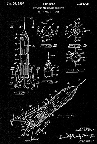 1967 - Space Rocket - Decanter and Holder - J. Berzac - Pate