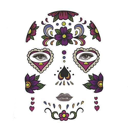 lightclub Halloween Temporary Tattoo Face Sticker Cosplay Masquerade