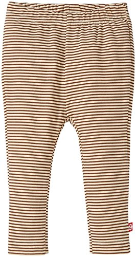 Zutano Baby Girls' Candy Stripe Skinny Legging, Chocolate, 12 Months