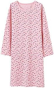 BLOMDES Girls' Floral Nightgowns Cherry Sleepwear Cotton Nightdress for 3-12 Y