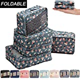 Allfourior Travel Packing Cubes -5 Set Compression Package Luggage Organizers