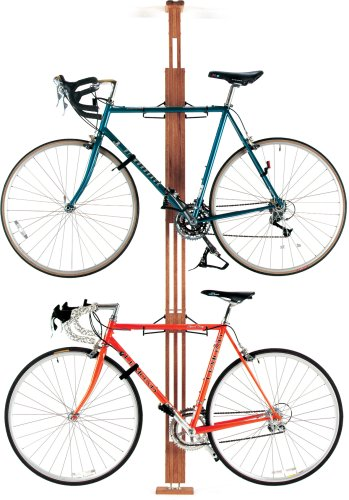 gearup OakRak Floor to Ceiling Storage Rack, Golden (Floor To Ceiling Bike Rack)