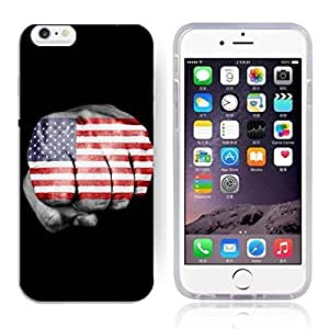 America Flag Design Pattern HD Durable Hard Plastic Case Cover for iphone 6