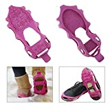 Anti Skid Walk Ice Traction Cleat for Snow and Ice Climbing Shoe Spikes Grips Crampons Spikers Gripper Cleats Overshoes Winter Climbing No Slip Shoes Cover travel kits