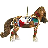 Westland Giftware Horse of a Different Color Ornament Figurine, 2.5-Inch, Santa's Workshop Clydesdale