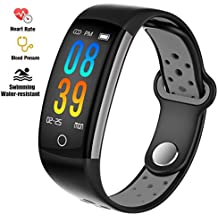 feifuns Fitness Tracker Watch, Upgraded Swim Water-Resistant HD Color Screen Smart Bracelet, HR/Blood Oxygen/Pressure/Calorie/Sleep Monitor Pedometer Activity Tracker for Android/iOS
