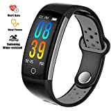 feifuns Fitness Tracker Watch, Upgraded IP68 Swim Water-resistant HD Color Screen Smart Bracelet, HR/Blood Oxygen/Pressure/Calorie/Sleep Monitor,Pedometer Activity Tracker BLE 4.0 for Android/IOS
