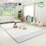 [Alzip New Eco Mat] Folding, Non-Toxic, Reversible SG Playmat -Modern Pink Color (240x140x4cm)