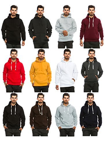 JC DISTRO Mens Hip Hop Basic Unisex Pullover Sweatshirts Hoodie Jacket, Size Upto 5XL Big