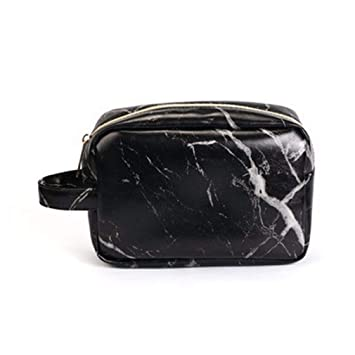 1a1e035cef5e Amazon.com : Marble Travel Cosmetic Bag Big Luxury Makeup Cosmetic ...