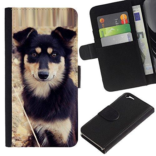 EuroCase - Apple Iphone 6 4.7 - Alaskan malamute mastiff puppy dog - Cuir PU Coverture Shell Armure Coque Coq Cas Etui Housse Case Cover