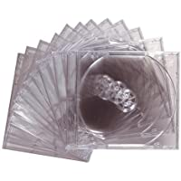 Maxell 190069 Replacement Storage Protects from Dust and Contaminants Safe Jewel Case 12 Pack Clear 10mm