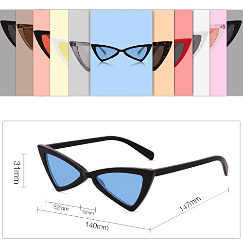 Cateye Sunglasses Triangle Men For Frame Sojos Women Lens blue Pointed High Black C8 Small Glasses Sj2051 5wqgEE8OF