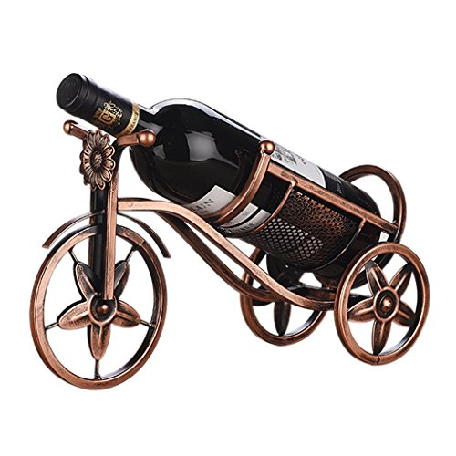 He Xiang Firm Wrought iron wine rack decoration home accessories wine rack creative retro wine cabinet display by He Xiang Firm