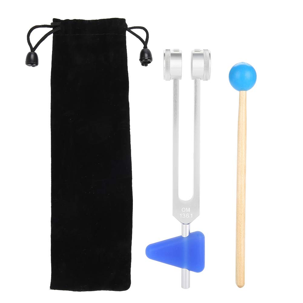 Diapason 136,1 Hz en Aluminium Diapason Médical Kit d'Instruments Médicaux outils de Thérapie par Vibrations de Guérison Saine