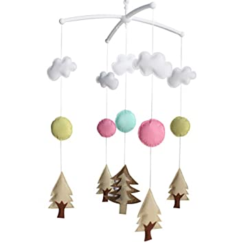 Baby Crib Mobile Non-woven Fabric Baby Mobile for Nursery Decor Christmas Gift Cute Cloud