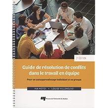 Guide de résolution de conflts dans le travail en équipe
