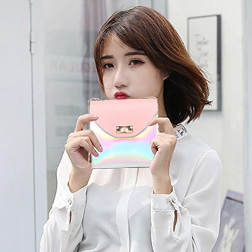 Small Handbag Pink TOOPOOT Lady Bag Colourful Clearance Women Pure Square Crossbody Bag Bag Zip Deals Messenger Shoulder 0OaWCWc4n