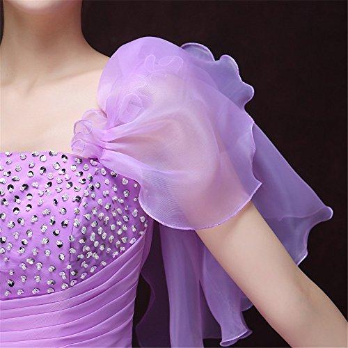 Damen Drasawee Kleid Empire Drasawee Violett Damen xSqwxn1