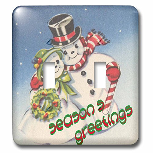3dRose lsp_165432_2 Mr and Mrs Snowman Holiday Greetings Light Switch Cover