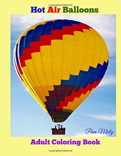 Hot Air Balloons: Adult Coloring Book