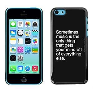GagaDesign / Funda Carcasa protectora - Dance Quote Black White - Apple iPhone 5C