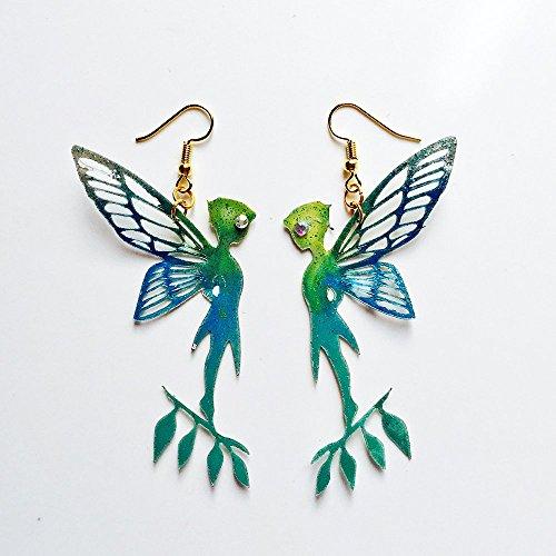 Tinkerbell Dangle - Tinker Bell earrings - Peter Pan lovers earrings - Trending jewelry - Green Tinkerbell jewelry - Novelty Tinker Bell earrings - Peter Pan