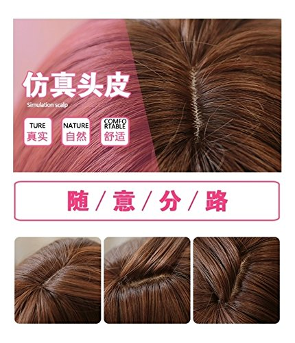Generic Beili Si thin air Liu Hai wig hair blue-gray long straight hair everyday Japanese Harajuku style wig full caps by Generic (Image #2)