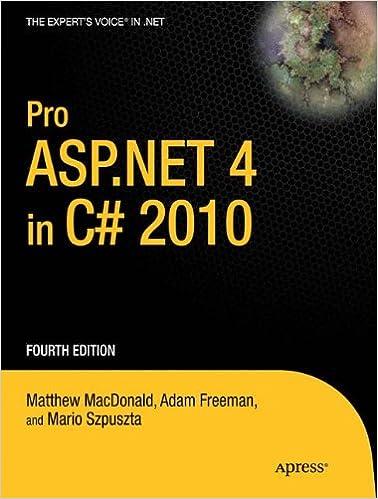 Pro ASPNET 4 In C 2010 Experts Voice NET Matthew MacDonald Adam Freeman 9781430225294 Amazon Books