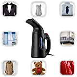 Steamers Clothes steamer, Handheld Fabric – For Travel & Home - Portable, Lightweight – Fast Heat Up & Remove Wrinkles - Spit Free - ETL Certificate (Black)