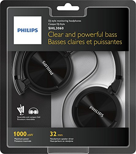 0ea357b5752 Philips SHL3060BK/00 On-Ear DJ Style Monitoring: Amazon.in: Electronics