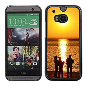 "For HTC One ( M8 ) , S-type Sunset Beautiful Nature 118"" - Arte & diseño plástico duro Fundas Cover Cubre Hard Case Cover"
