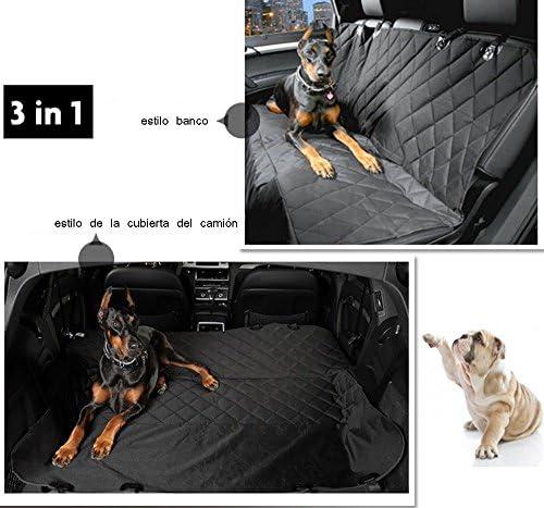 Zumeca Cubierta Asiento Perro, Cubierta Impermeable de Mascotas para el Asiento del Coche Anti-Deslizamiento 4