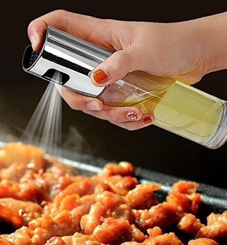 Braten /Ölspender /Öl- und Essigspender Zerst/äuber f/ür Kochen Backen 3er-Pack nachf/üllbar Oliven/öl-Spender zum Kochen Glasflasche mit Messungen f/ür Grillen