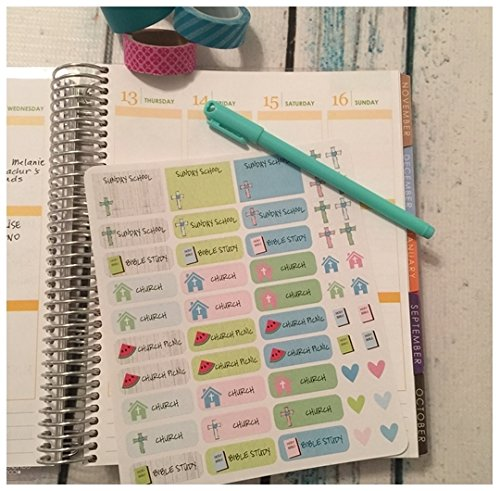 Sunday School, Church Planner Stickers, Clock, Dentist, Goals, Erin Condren Life Planner, Kikkis Planner, Filofax, Agenda