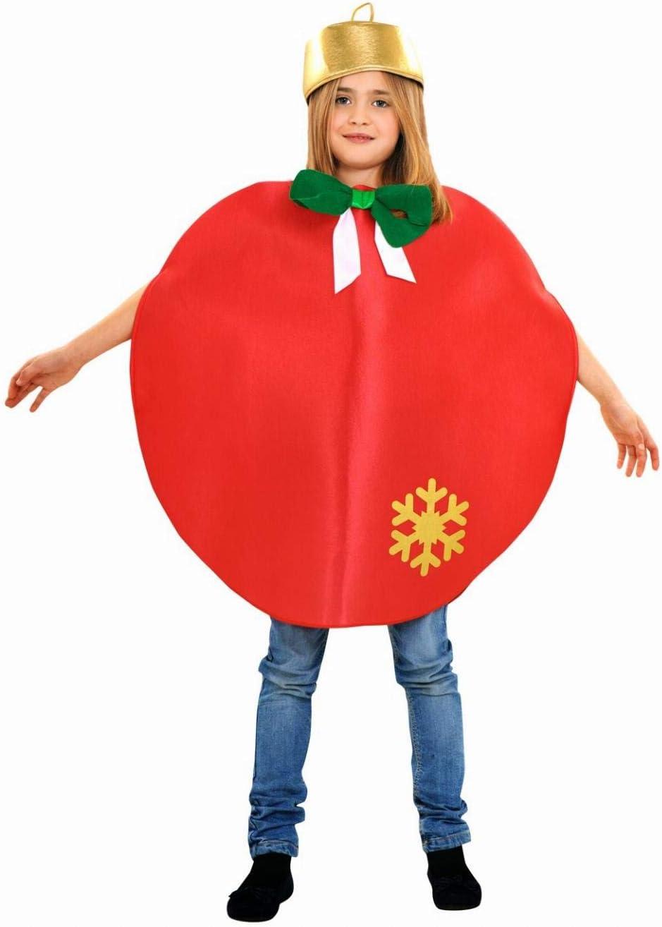 Disfraz de bola de Navidad - Color - Rojo, Talla - 7-9 años ...